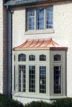Copper Window Awning