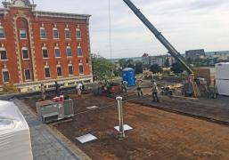 Roof Tear-off and Adhered EPDM (Rubber Roof System)